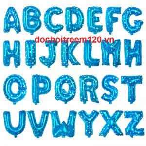 Bong bóng kiếng 26 chữ từ A tới Z  màu xanh