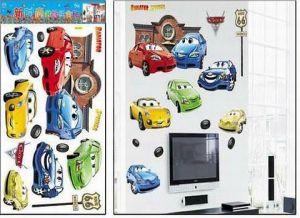 Decal giấy trang trí tường 60x30cm Cars