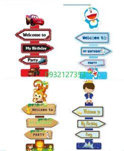 CÂY WELCOME MẪU CARS/ DOREMON/ PRINCE / KHỈ