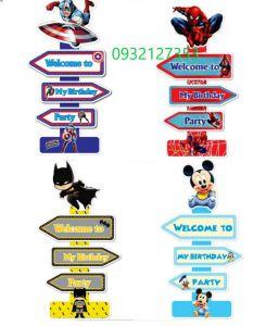 CÂY WELCOME MẪU SPIDERMAN/ SIÊU ANH HÙNG/ PACMAN/ MICKEY