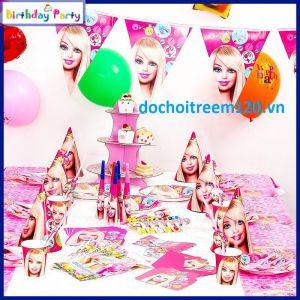Set trang trí sinh nhật 16 món Barbie