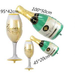 Cặp bong bóng kiếng Chai - Ly Rượu cao