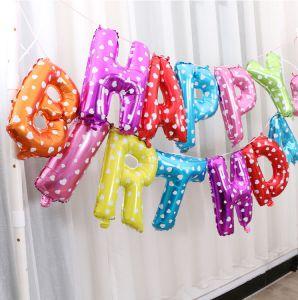 bóng kiếng kt 35cm  chữ HAPPY BIRTHDAY nhiều màu