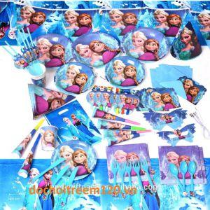 Set trang trí sinh nhật 16 món chủ đề Frozen