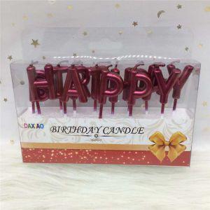 NẾN CHỮ HAPPY BIRTHDAY MÀU MẬN