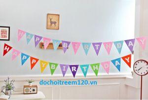 Dây chữ sinh nhật bằng vải nỉ thiết kế theo yêu cầu