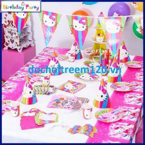 Trang trí sinh nhật KITTY set 16 món cho bé gái