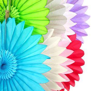 Quạt hoa cúc giấy 25cm
