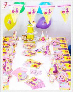 Set trang trí sinh nhật 16 món số 1 có 2 màu xanh / màu hồng