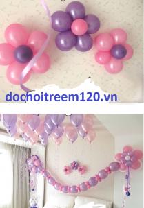 10 Bong bóng đủ màu kết nối trơn màu Thailand 25cm