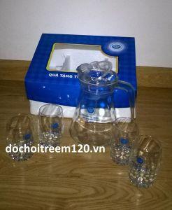 Bộ bình nước và ly thủy tinh hàng khuyến mãi từ halan