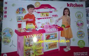 Kệ bếp nhựa đại và siêu thị cho bé 59 món kt 86x87x33cm