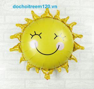Bong bóng kiếng hình Mặt Trời cười kt 45cm