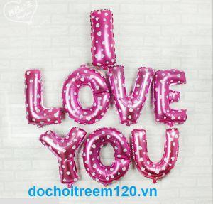 Set Bong bóng kiếng chữ I LOVE YOU (có 4 màu)