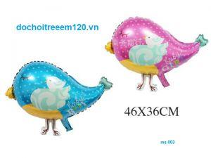 Bong bóng kiếng Con Chim 45cm (hồng/xanh)