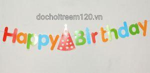 DÂY HAPPY BIRTHDAY ÁNH NHIỀU MÀU DÀI 2M
