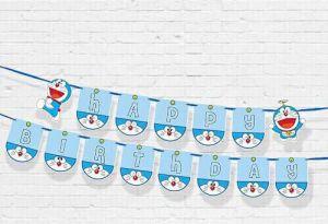DÂY HAPPY BIRTHDAY CHỦ ĐỀ  DOREMON BẰNG GIẤY DÀI 2M