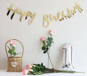 DÂY HAPPY BIRTHDAY ÁNH KIM VÀNG DÀI 1M