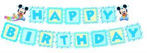 DÂY HAPPY BIRTHDAY CHỦ ĐỀ MICKEY BẰNG GIẤY DÀI 2M