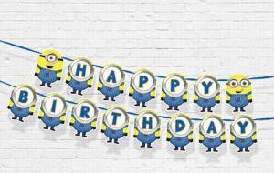 DÂY HAPPY BIRTHDAY CHỦ ĐỀ MINON BẰNG GIẤY DÀI 2M