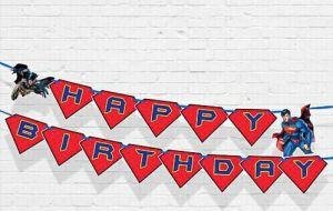 DÂY HAPPY BIRTHDAY CHỦ ĐỀ SIÊU NHÂN BẰNG GIẤY DÀI 2M
