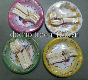 Set 10 dĩa giấy có nĩa 12cm