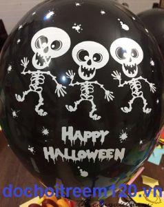 Set 10 bong bóng Halloween 28cm (trắng/đen)