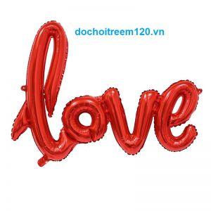 Bong bóng kiếng chữ Love kt 91x81cm