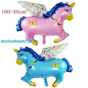 Bong bóng kiếng Ngựa bay kt 60cm (hồng/xanh)