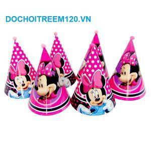 nón sinh nhật Minnie cao 20cm 1 cái