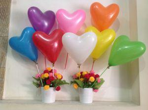 10 bong bóng cao su trái tim 25cm HÀNG THAILAND