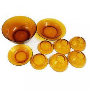 Bộ 9 món chén đĩa thủy tinh Indo - Vinamilk
