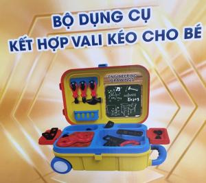 Bộ dụng cụ kết hợp vali kéo cho bé Enfa