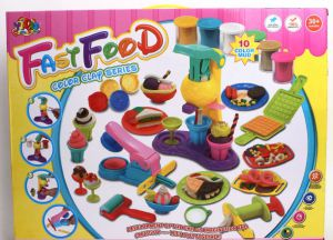 Bộ đồ chơi đất sét Fast Food Color Clay Series