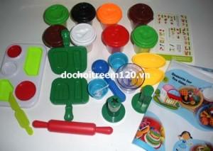 Bộ đồ chơi đất sét hộp vàng có 5 mẫu