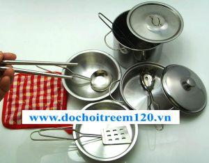 Bộ đồ chơi nấu ăn inox 11 món