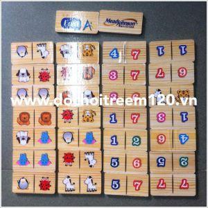 Bộ domino gỗ 2 mặt Enfa