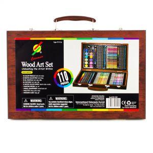 Bộ bút màu hộp gỗ đa năng Colormate 110 món - hàng quà tặng Pediasure