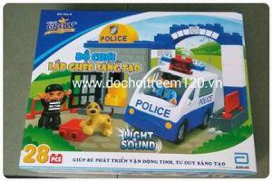 Bộ lắp ghép sáng tạo xe cảnh sát Abbott