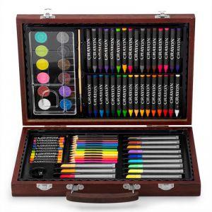 Bộ bút màu hộp gỗ đa năng Colormate 82 món - hàng quà tặng Pediasure