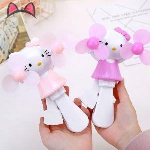 Quạt mini đôi cầm tay Kitty