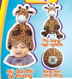 Thú bông thông minh 3 in 1 Mamy Poko (voi, sư tử, )