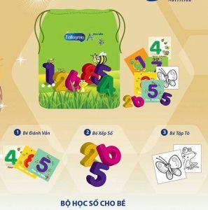 Túi học số cho bé Enfa