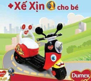 Xe máy điện trẻ em kiểu dáng Vespa hàng quà tặng Dumex