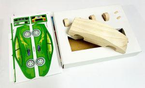 Máy bay mô hình gỗ dán decal Enfa