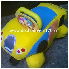 Xe chòi chân thú bông Enfa còn mẫu ô tô
