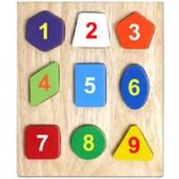 Bộ xếp 9 hình gỗ