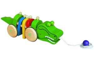 Cá sấu bằng gỗ
