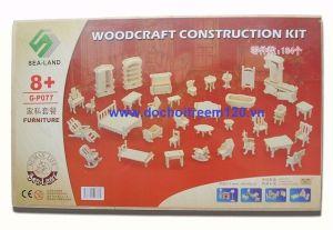 Bộ đồ chơi ghép gỗ 34 món đồ gia dụng
