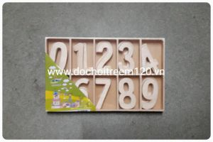 Hộp chữ số bằng gỗ